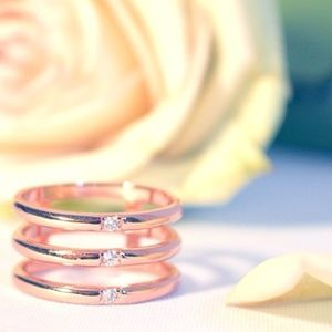Jewelry - Effortlessly Chic 18K Rose Gold Layered Ring